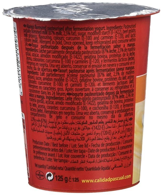 Pascual Yogur Sabor Mango - Paquete de 4 x 125 gr - Total: 500 gr: Amazon.es: Amazon Pantry