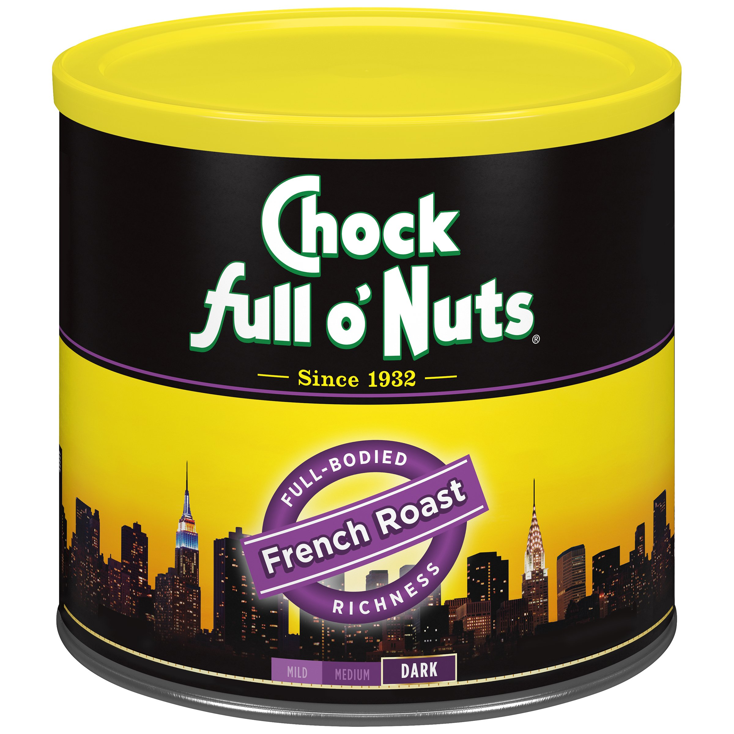 Chock Full o'Nuts Coffee, French Roast Ground, 26 Ounce