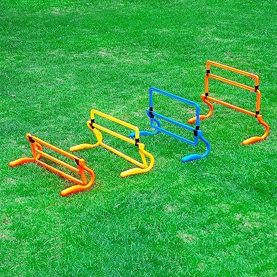 LIOOBO Obstáculos de Entrenamiento de Velocidad Ajustable Equipo de Entrenamiento de Velocidad Pliométrica Multideporte (Naranja): Amazon.es: Deportes y aire libre