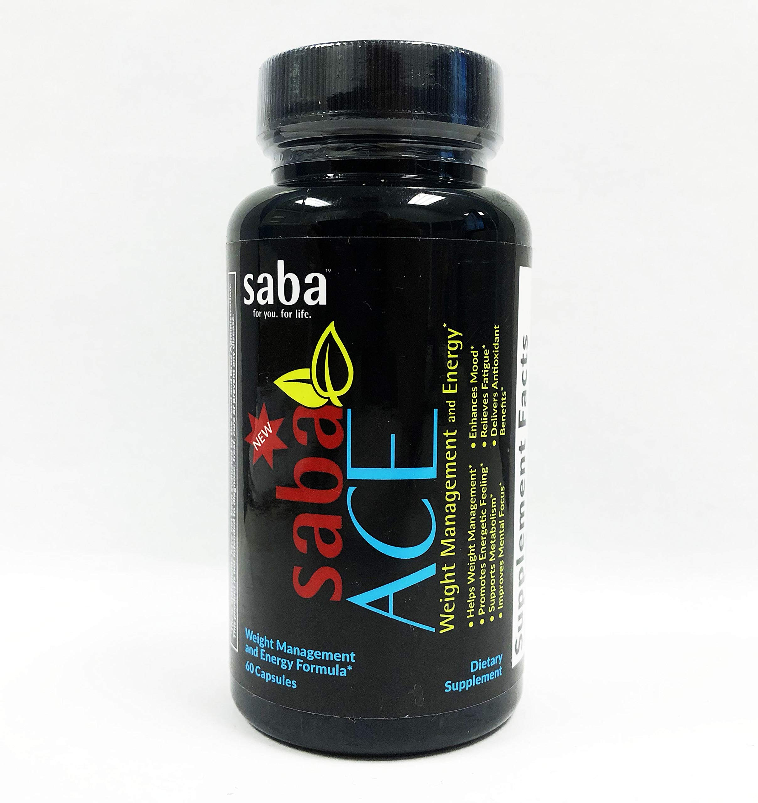 Saba Appetite Control and Energy DMAA Free Dietary Supplement, 60 Capsules by ACE SABA