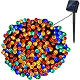 Koxly Solar String Lights,72FT 200 LED 8 Modes Solar Powered Christmas Lights Outdoor String Lights Waterproof Fairy…