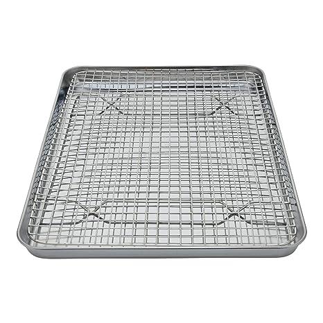 Amazon.com: Bandeja de horno de acero inoxidable + bandeja ...