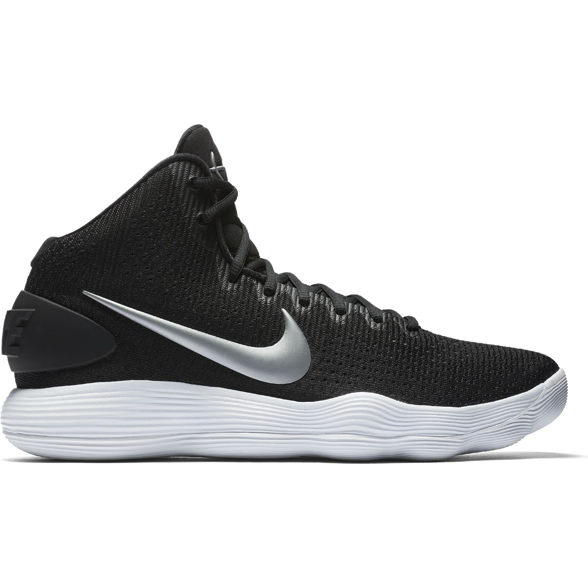 NIKE Men's Hyperdunk 2017 TB Basketball Shoe Black/Metallic Silver/White Size 10.5 M US by Nike