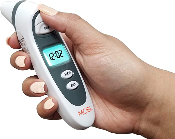 Mobi Dualscan Prime Ear & Forehead Thermometer with Food & Bottle Readings, Ear Thermometer, Forehead Thermometer, Fever Thermometer, Object Thermometer, Baby Food Thermometer, Hsa Eligible/Approved