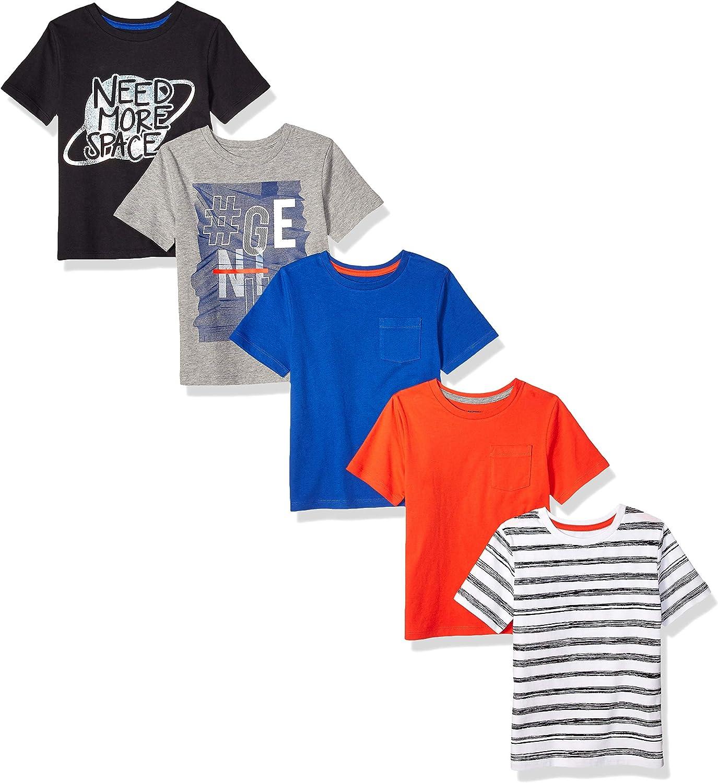 Spotted Zebra Jungen 5-Pack Short-Sleeve T-Shirts Marke
