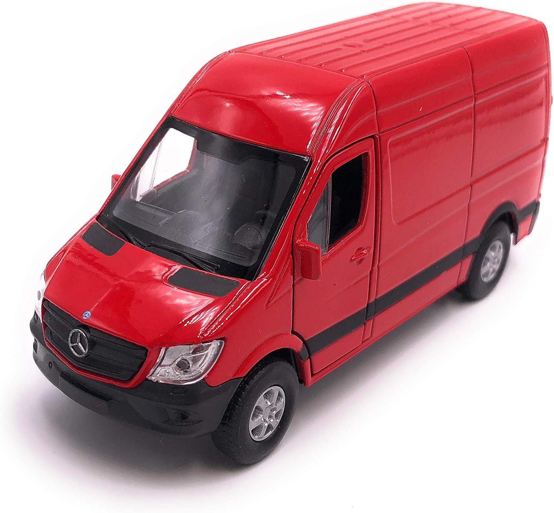 H-Customs V/éhicule de mod/èle Mercedes Benz Sprinter Auto Produit sous Licence 1 39 Rouge 34-1