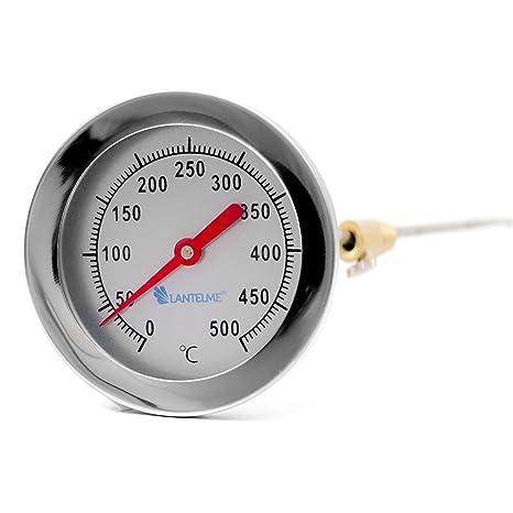 Edelstahl Träume - 500 ° c grado horno leña bimetálico y horno horno barbacoa termómetro analógico