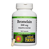 Natural Factors, Bromelain 500 mg, Enzyme Support for a Healthy Digestive System...