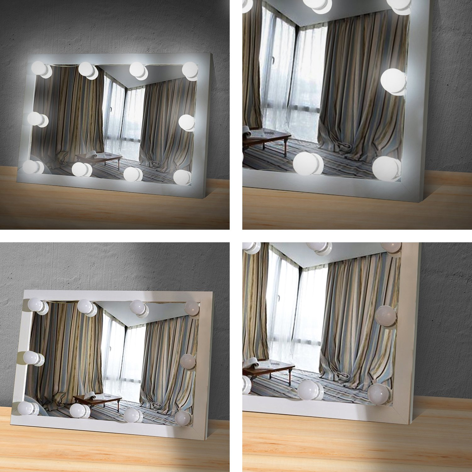 makeup mirror lighting fixtures. Makeup Mirror Lights Hollywood Style LED Vanity 10 Bulbs Kit For Dressing Table With Touch Dimmer And Power Supply Plug In Lighting Fixtures R