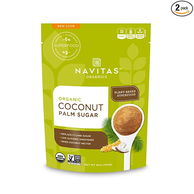 Navitas Organics Coconut Palm Sugar 16 Oz Bag 57 Servings Organic Non Gmo Gluten Free Sustainable Pack Of 2 Amazon Com Grocery Gourmet Food