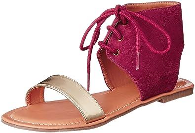 029b8aace22 Lavie Women s 7130 Gladiator Red Fashion Sandals - 4 UK India (37 ...