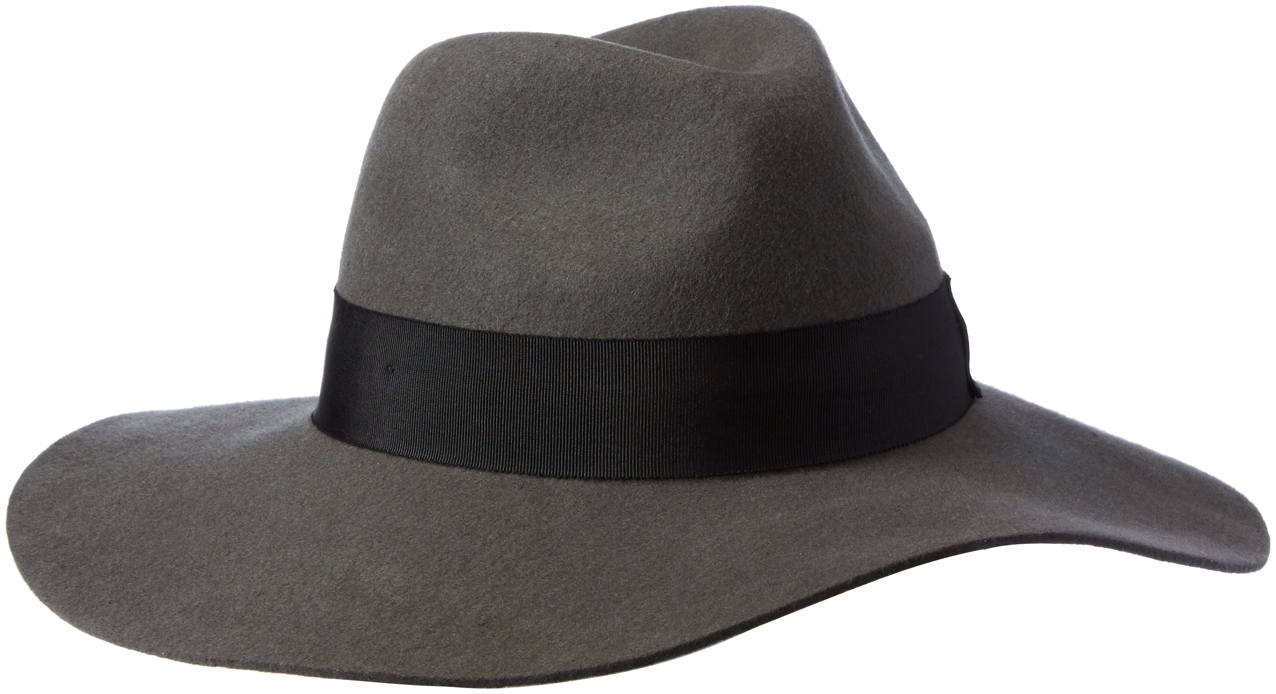 Gottex Women's Laurent Felt Fedora Sun Hat, Rated UPF 50+ for Max Sun Protection, Grey/Black, One Size