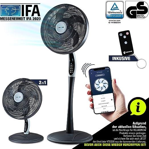RelaxxNow Ventilador de Pedestal 2en1 Extra silencioso| Smart Tuya ...