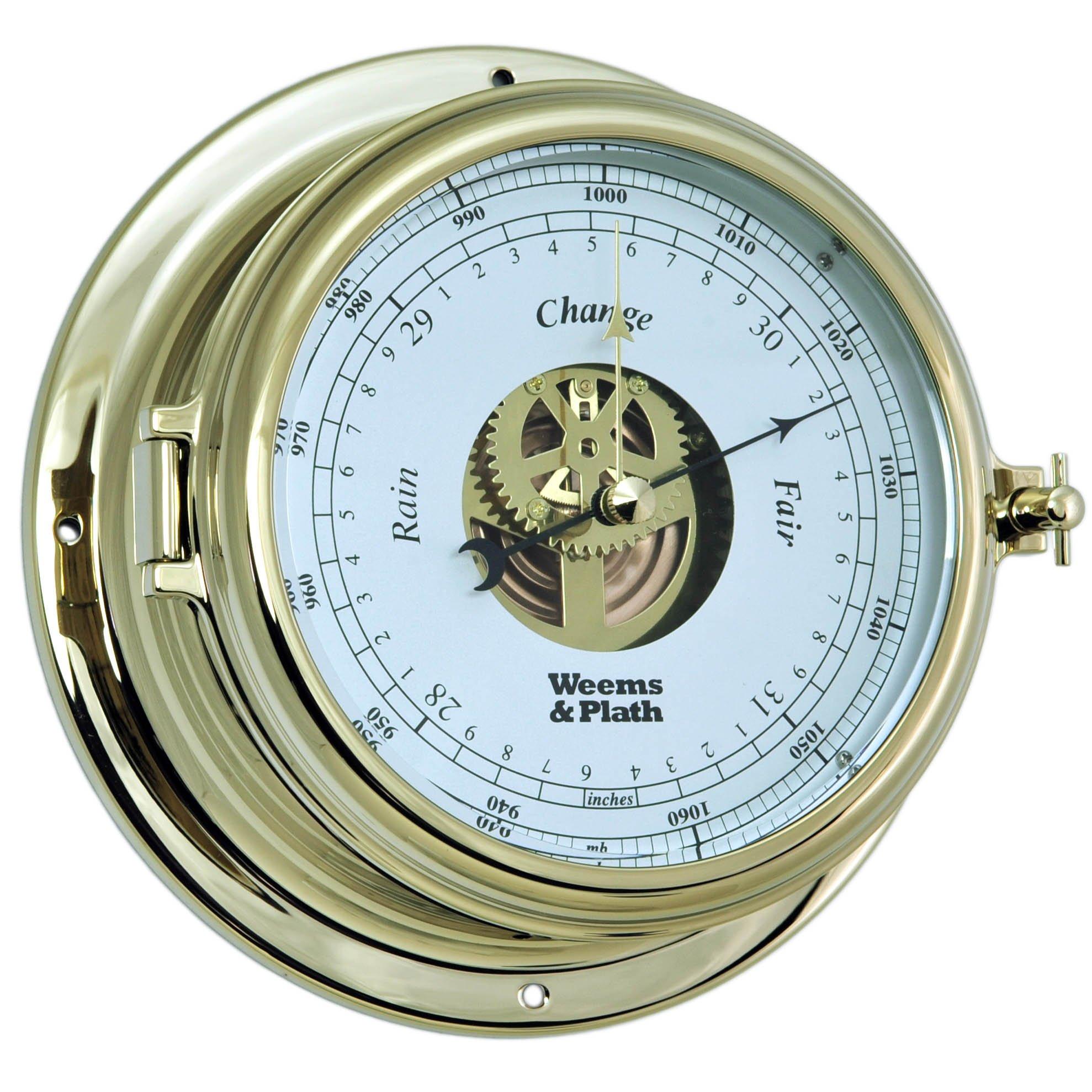 Weems and Plath Endurance II 135 Open Dial Barometer, Brass