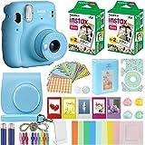 Fujifilm Instax Mini 11 Instant Camera Sky Blue Compatible Carrying Case + Fuji Instax Film Value Pack (40 Sheets…