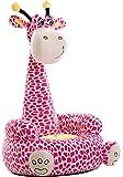 Liberty House Toys Plush Giraffe Animal Seat, Fabric, Pink
