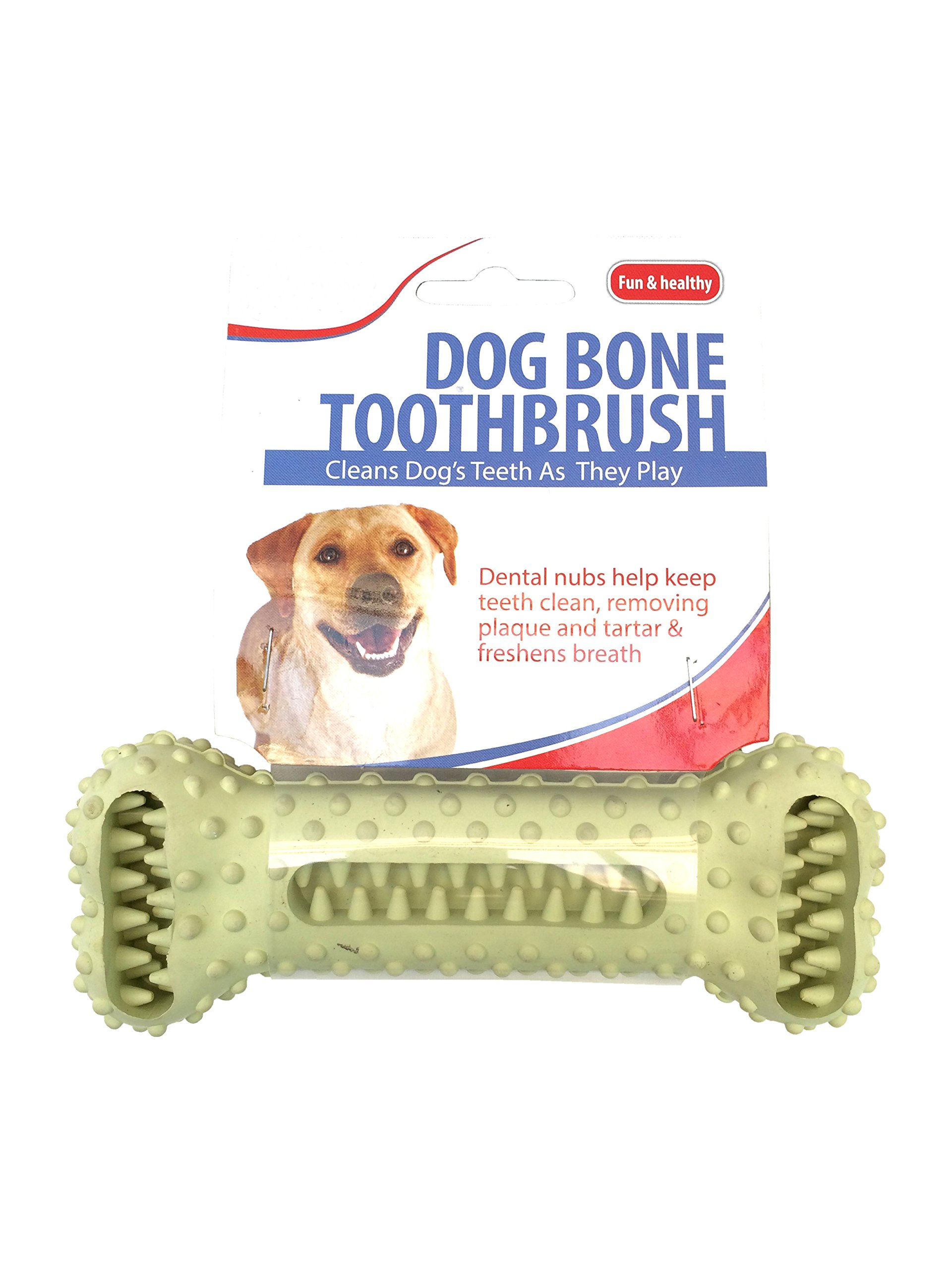 New Dog Bone Toothbrush Dental Care Removes Plaque Tarter Cleans Mouth Hygiene