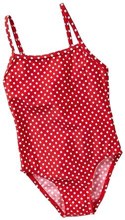 new arrival 017b1 2127a Playshoes Mädchen Badeanzug, gepunktet UV-Schutz nach Standard 801 und  Oeko-Tex Standard 100 Badeanzug in rot mit weißen Punkten 461033