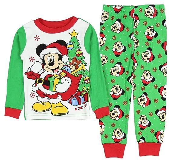 Amazon.com  Disney Toddler Boys Mickey Mouse Santa Sleepwear Pajama ... cb5fa2d52