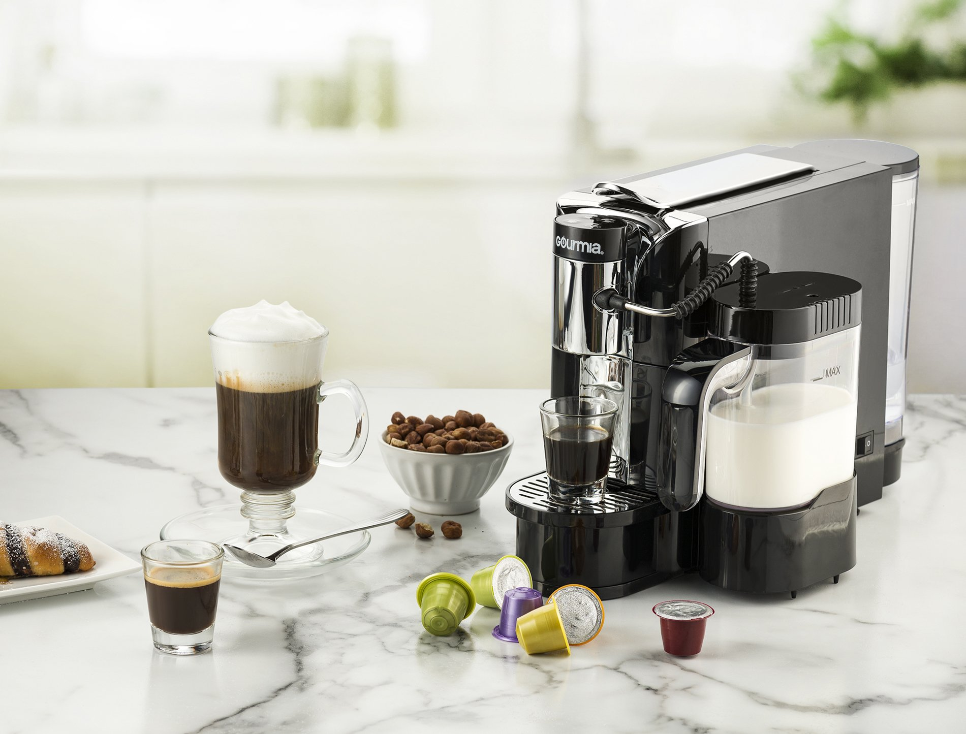 Gourmia GCM5500 - One Touch Automatic Espresso Cappuccino & Latte Maker Coffee Machine - Brew, Froth Milk, and Mix Into Cup with the Push of One Button- Nespresso Compatible by Gourmia (Image #2)