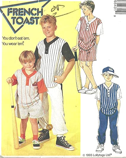 Amazon Com Mccall S Sewing Pattern 6543 French Toast Baseball