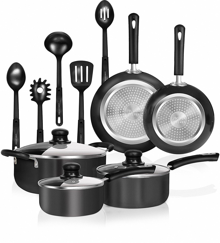 Utopia Kitchen - Juego de utensilios de cocina de 13 piezas, con ...