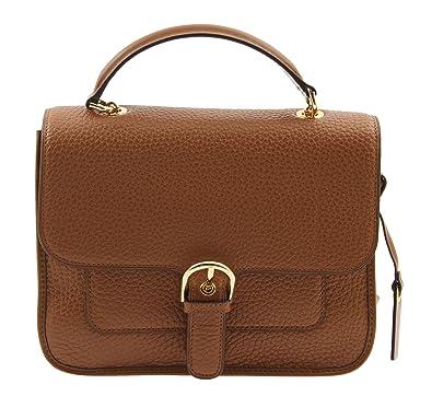 86a5f8032e27 MICHAEL Michael Kors Womens Cooper Leather Pebbled Satchel Handbag Brown  Medium: Handbags: Amazon.com