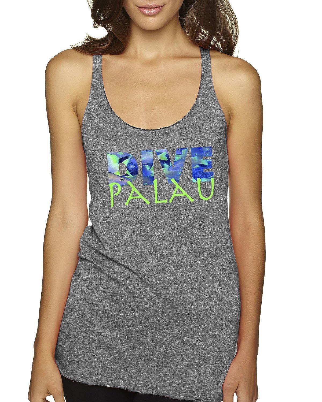 LIFE IS BALANCE Dive Palau Women/'s Tri-Blend Racer-Back Tank top