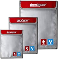 3-Pack Deco Gear Dual-Layer Silicone Fireproof Water Resistant Safe Storage Bags