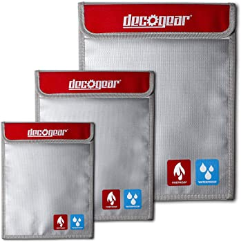 3-Pack Deco Gear Dual-Layer Water Resistant Safe Storage Bags