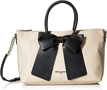 Karl Lagerfeld Paris womens Kris Nylon Bow Satchel