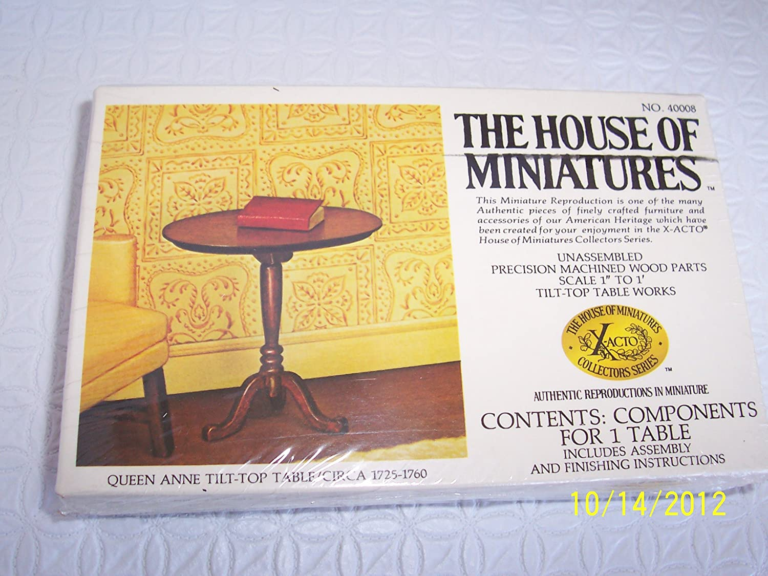 The House Of Miniatures - Queen Anne Tilt-Top Table / Circa 1725-1760 - Doll House Furniture #40008