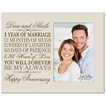 Amazoncom Personalized One Year Anniversary Gift Her Him Couple