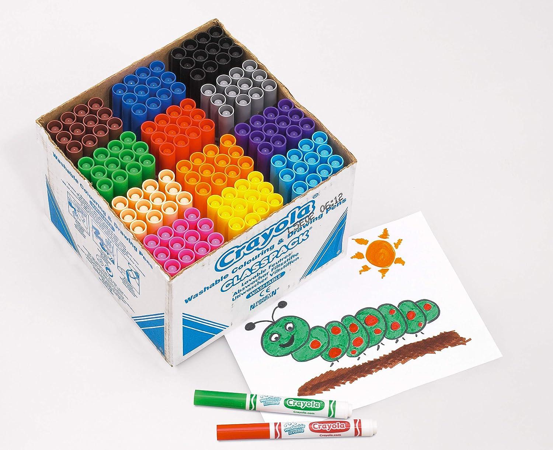 bunt Crayola Breite Filzstifte 144/St/ück