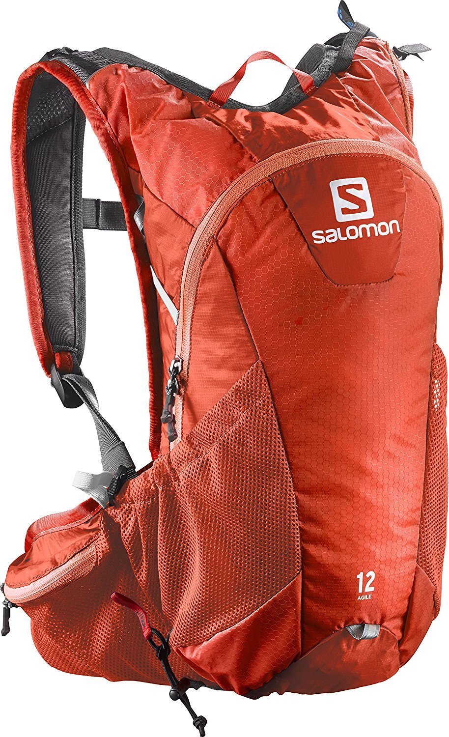 Salomon Bright Agile 12 Set Backpack Red/White [並行輸入品] B077QG2LLK