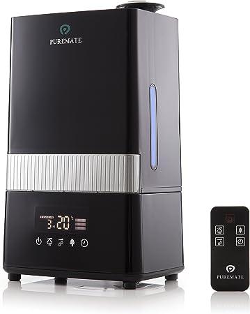 Humidificateur Ioniseur Purificateur d/'Air à Ultrasons Aromathérapie 4,5l Noir