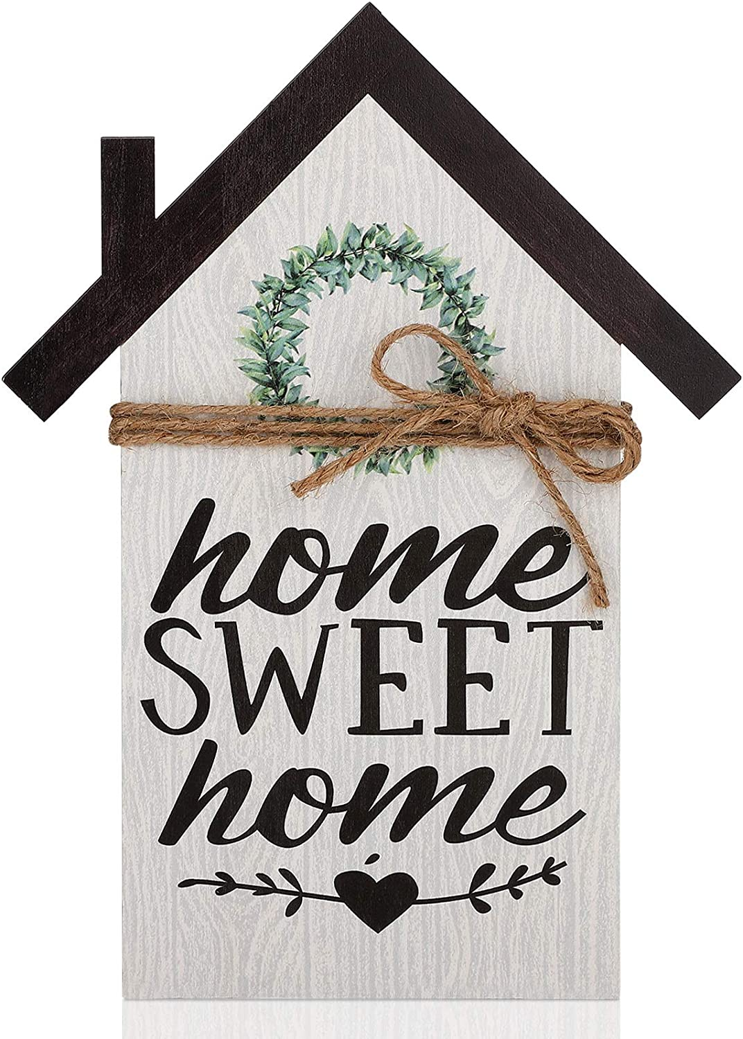 Rustic Wood Block House, Home Sweet Home Sign, Wood Houses Farmhouse Wall Decor, Small Wood House Decor for Bedroom Kitchen Living Room and Outdoor Decor