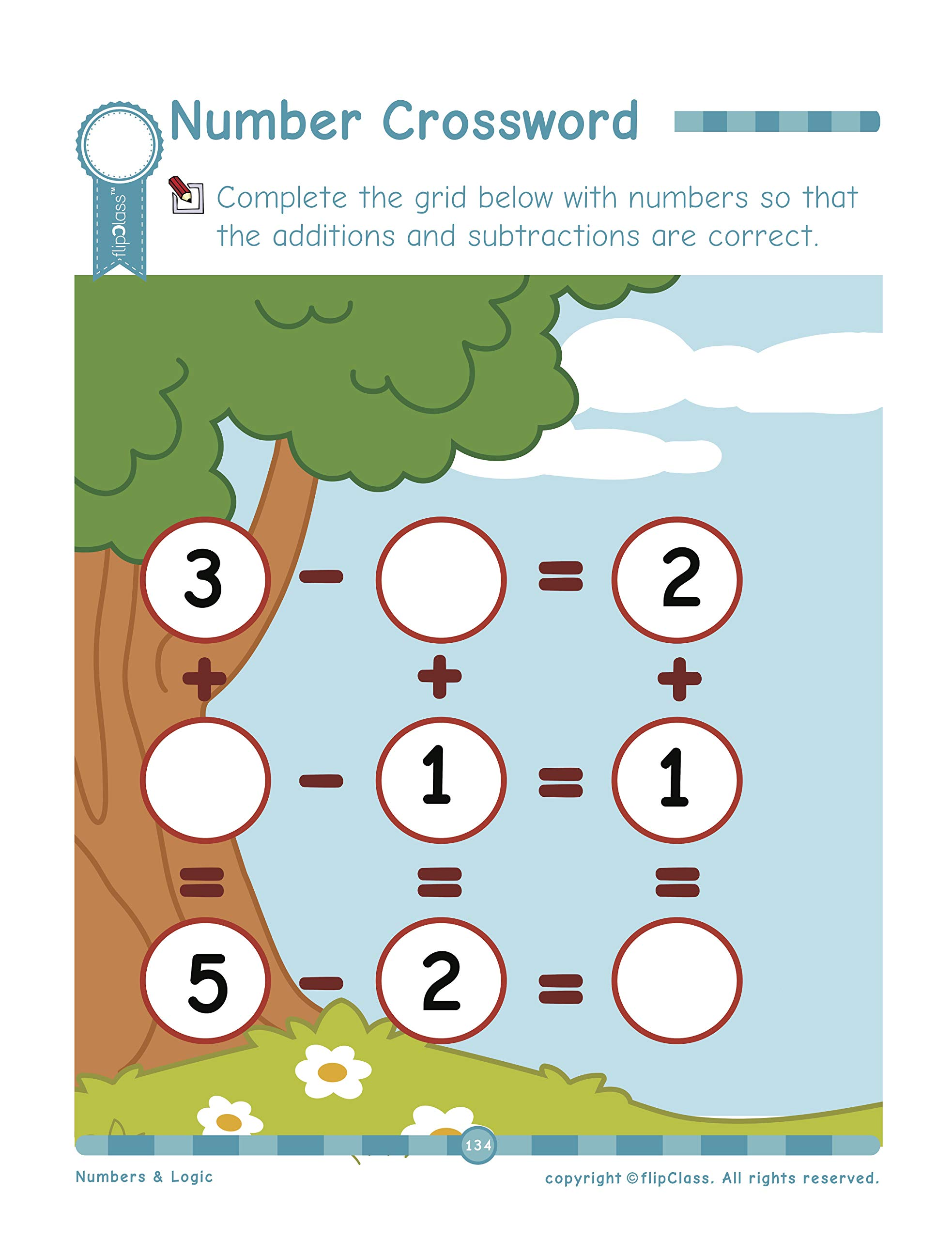 Addition /& Subtraction Numbers /& Logic: Kindergarten Workbook Numbers in Words Time /& Money : Teaches Numbers Logic /& Mental Ability to Pre-Primary Child Patterns Little Genius Series 4-6 yrs