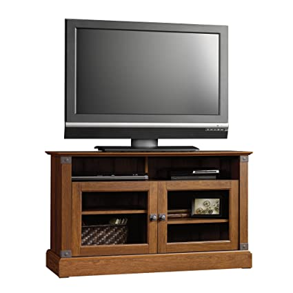 Elegant TV Stand For TVs Up To 47u0026quot; With Divided Open Shelving, Framed  Safety