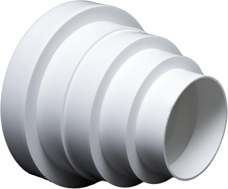 Ré ducteur universel rond pour systè me de ventilation de diamè tre de 80-150 mm ---Canal RDRC MM TECHNIK