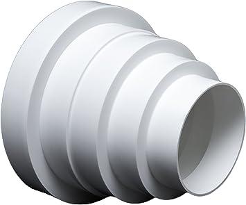 Universal reduzierstück für lüftungssysteme Ø 80 150 mm