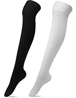 1a8d12f55 Kayhoma Extra Long Cotton Thigh High Socks Over the Knee High Boot ...