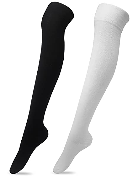 8e5987a61 Women s Over The Knee High Socks 2 Pairs