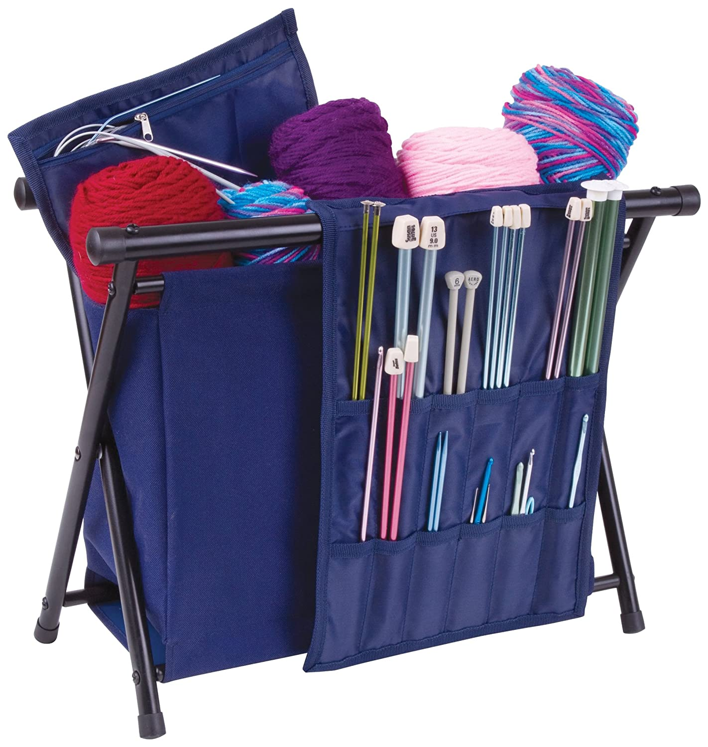 ArtBin Needle Arts Caddy- Yarn Storage for Knitting and Crocheting - Navy, 6933AM ARUFZ