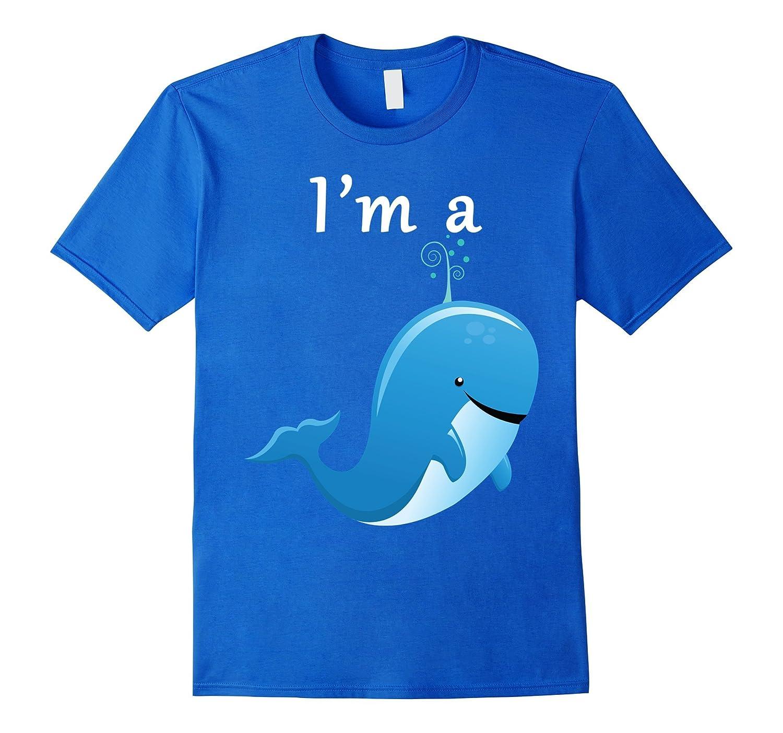 im a whale shirt kids cartoon blue whales tee goatstee