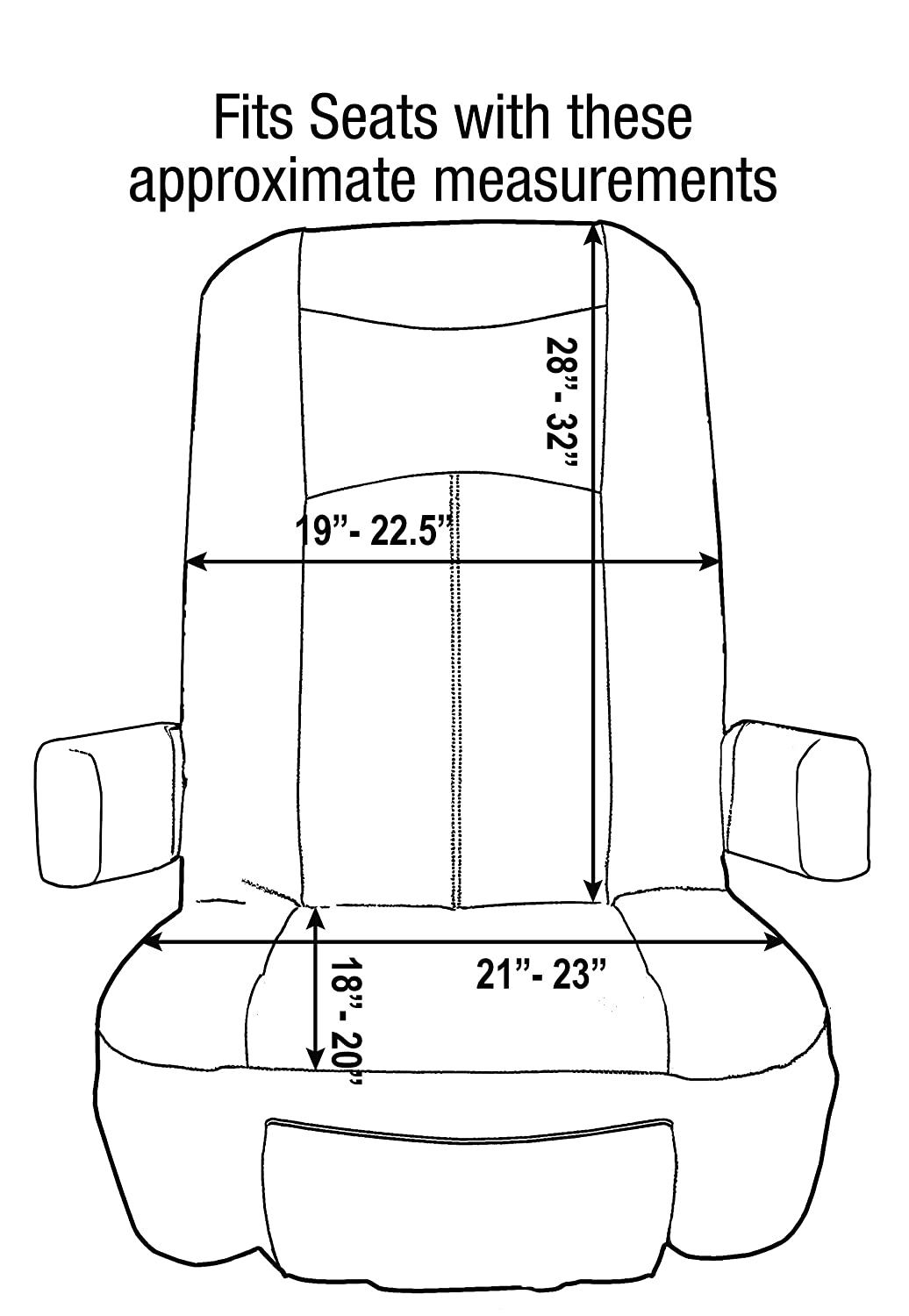 Double Pack Fits Most Seats Motorhome Seat Cover RV Designer C7957 GripFit