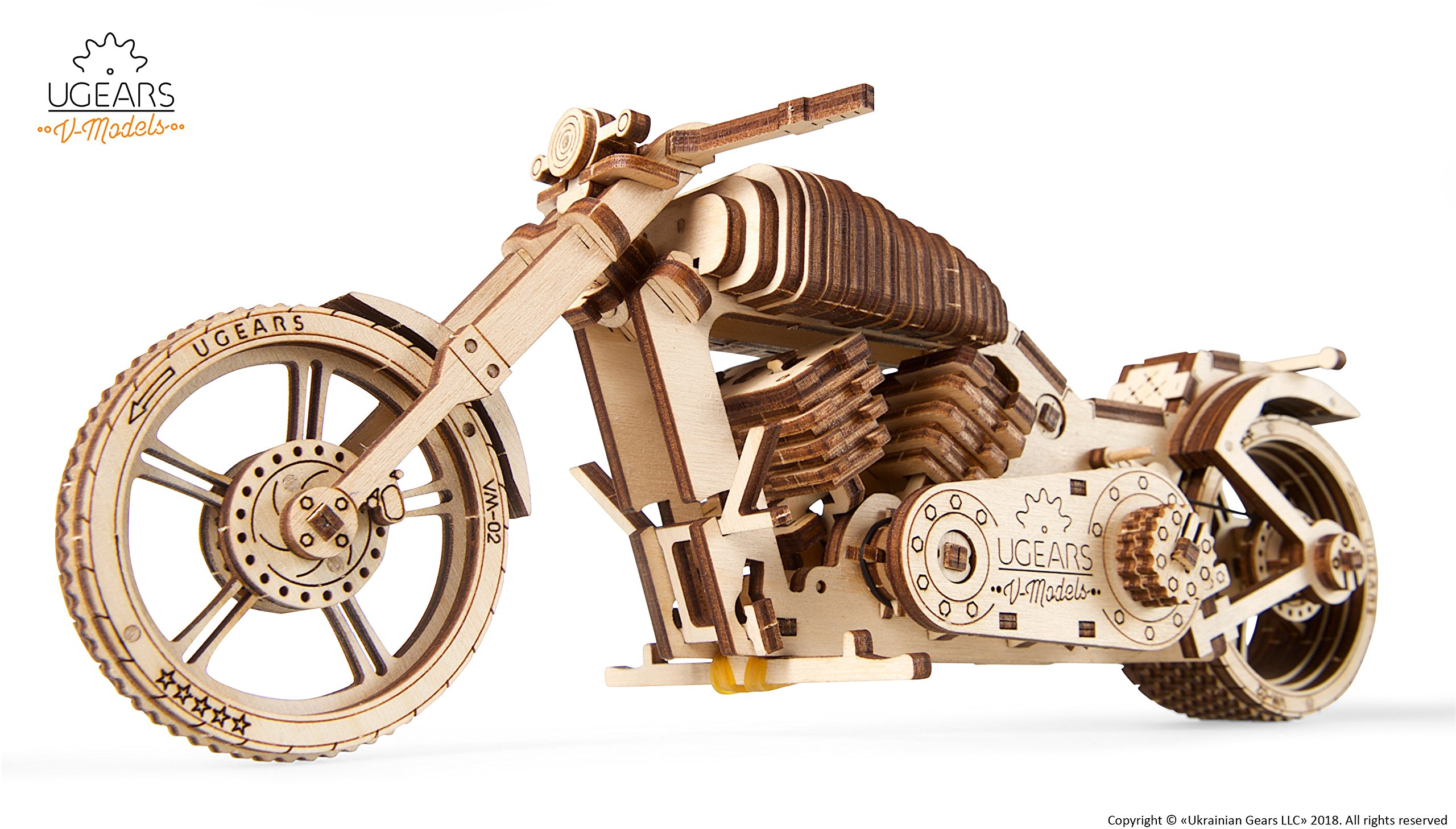 Wooden Bike, Vintage Vehicle, Mechanical Models, School Project, Automata Kit, Desk Décor by Ugears by Ukrainian Bridge