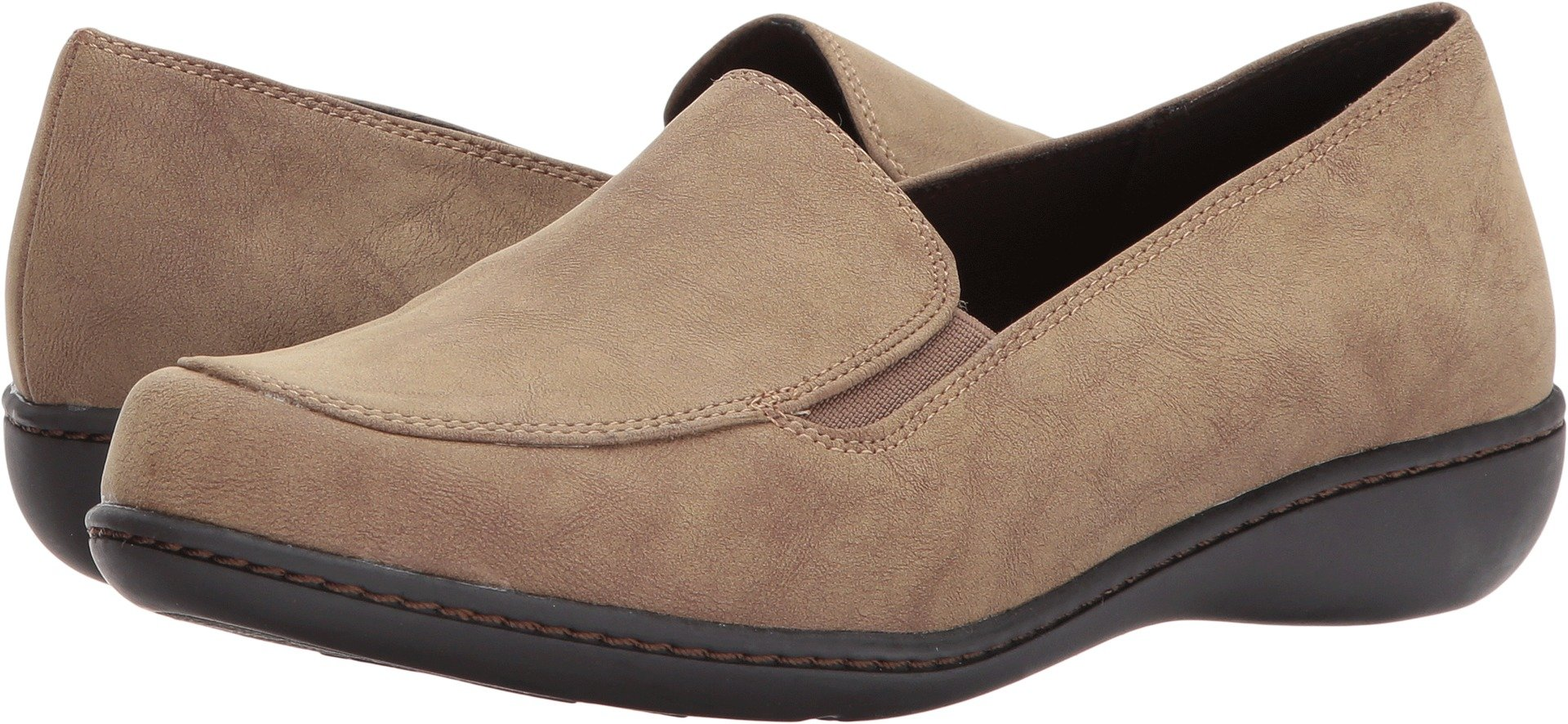 Soft Style by Hush Puppies Women's Jaylene Oxford, Taupe Nubuck, 5.5 M US