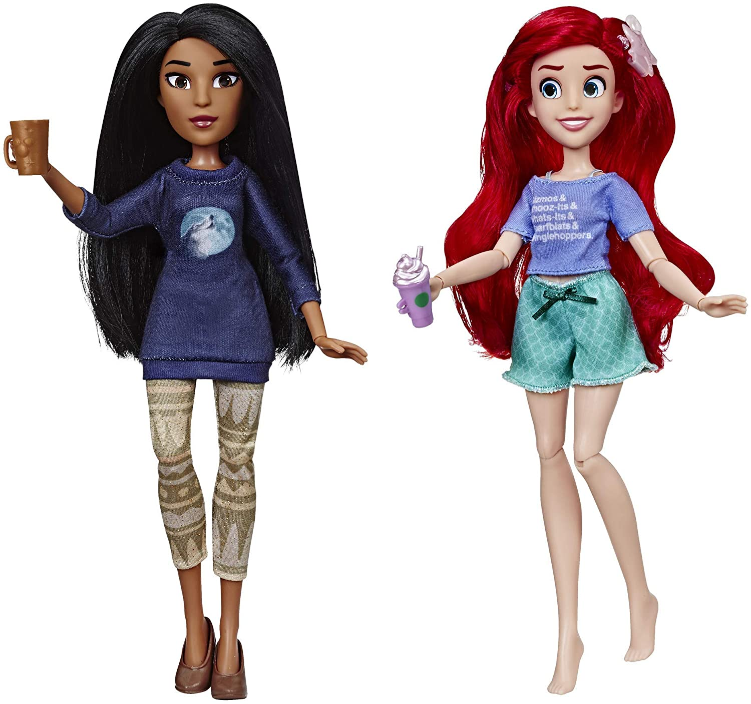 Amazon Com Disney Princess Ralph Breaks The Internet Movie Dolls Ariel Pocahontas Dolls With Comfy Clothes Accessories Toys Games