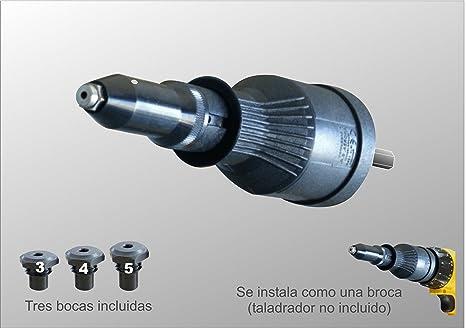 Adaptador para remachadora de Taladro Remachadora Profesional RiveDrill E95H.20 Para remachar sin esfuerzo con